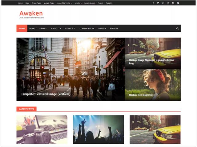 template grátis WordPress Awaken