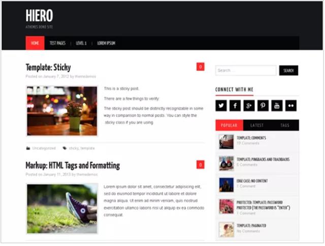 tema grátis WordPress Hiero