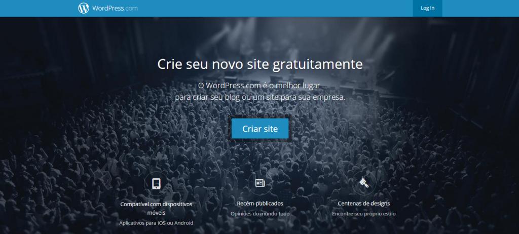 criar um blog gratuito wordpress