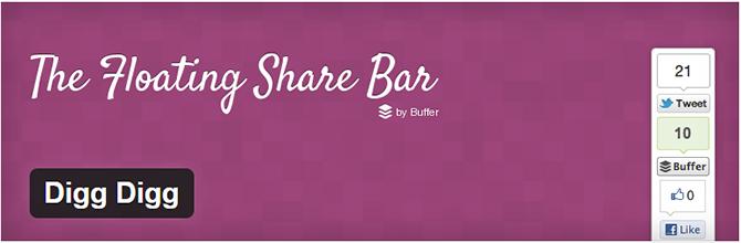 melhores plugins de compartilhamento social digg digg