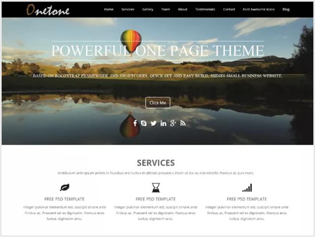 tema grátis para WordPress Onetone