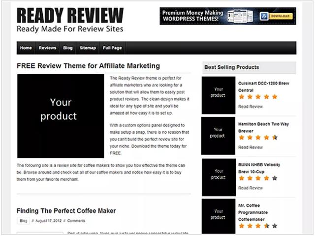tema gratuito WordPress Ready Review